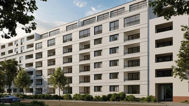 Bild von Neubau und Mehrfamilienhaus